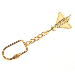 eurofighter keyring gold