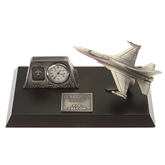 f16 falcon desk top clock