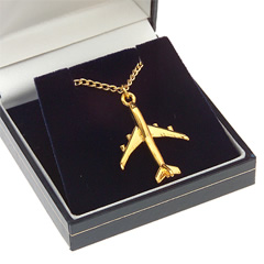 boeing 747-400 pendant gold